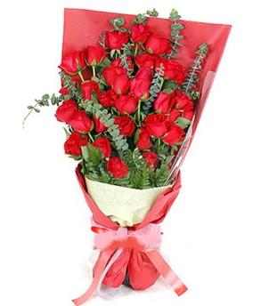 Şırnak çiçek , çiçekçi , çiçekçilik  37 adet kırmızı güllerden buket