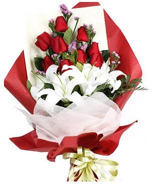 Şırnak online çiçek gönderme sipariş  1 dal kazablankaa 9 adet kırmızı gül buketi