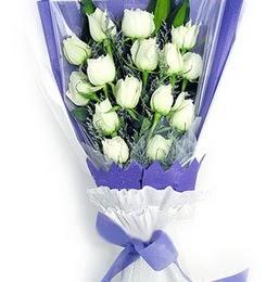 Şırnak çiçekçiler  11 adet beyaz gül buket modeli
