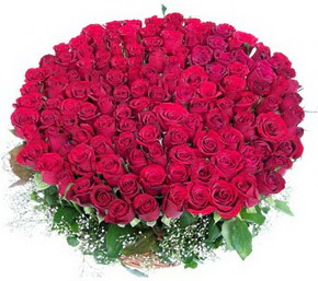 Şırnak çiçek gönderme sitemiz güvenlidir  100 adet kırmızı gülden görsel buket