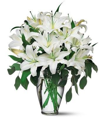 Şırnak çiçek siparişi vermek  4 dal kazablanka ile görsel vazo tanzimi