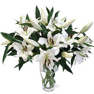 Şırnak ucuz çiçek gönder  3 dal görsel casablanca vazo tanzimi