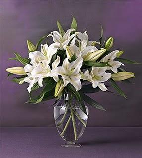 Şırnak çiçek gönderme  4 dal cazablanca vazo çiçeği