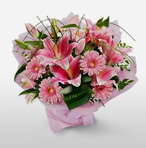 1 dal kazablanka ve kır çiçek görsel buketi  Şırnak çiçek siparişi vermek