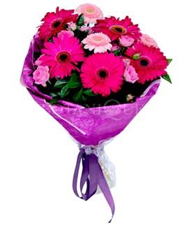 Şırnak internetten çiçek siparişi  karışık gerbera çiçeği buketi