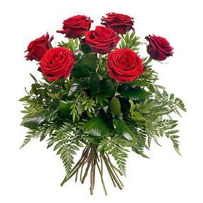 Şırnak uluslararası çiçek gönderme  7 adet kırmızı gülden buket