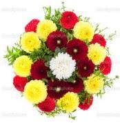Şırnak çiçekçiler  13 adet mevsim çiçeğinden görsel buket