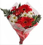 Mevsim çiçeklerinden görsel buket  Şırnak online çiçek gönderme sipariş
