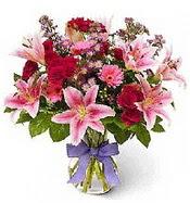 Vazo içerisinde karışık mevsim çiçeği  Şırnak internetten çiçek siparişi