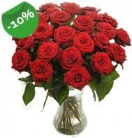 Vazo içerisinde 25 adet kırmızı gül  Şırnak 14 şubat sevgililer günü çiçek