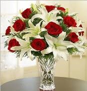 12 adet kırmızı gül 2 dal kazablanka vazosu  Şırnak hediye çiçek yolla