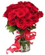 21 adet vazo içerisinde kırmızı gül  Şırnak hediye çiçek yolla