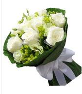 9 adet beyaz gül buketi  Şırnak internetten çiçek siparişi