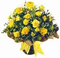 Şırnak çiçekçi mağazası  Sari gül karanfil ve kir çiçekleri