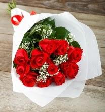 9 kırmızı gülden buket çiçeği  Şırnak çiçek , çiçekçi , çiçekçilik