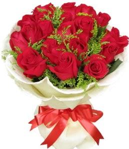 19 adet kırmızı gülden buket tanzimi  Şırnak güvenli kaliteli hızlı çiçek