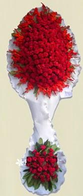 Çift katlı kıpkırmızı düğün açılış çiçeği  Şırnak çiçek servisi , çiçekçi adresleri
