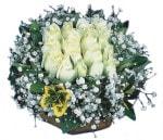 Şırnak online çiçek gönderme sipariş  Beyaz harika bir gül sepeti