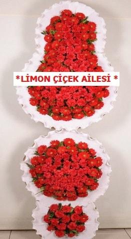 3 katlı kırmızı düğün açılış çiçeği  Şırnak çiçek , çiçekçi , çiçekçilik