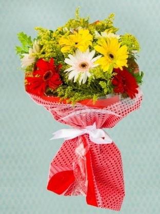 Karışık Gelbera Buketi  Şırnak internetten çiçek siparişi