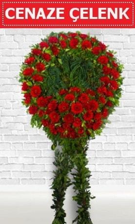 Kırmızı Çelenk Cenaze çiçeği  Şırnak çiçek gönderme