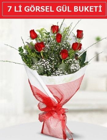 7 adet kırmızı gül buketi Aşk budur  Şırnak hediye çiçek yolla