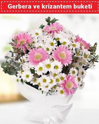 Papatya ve Gerbera Buketi  Şırnak çiçekçi mağazası