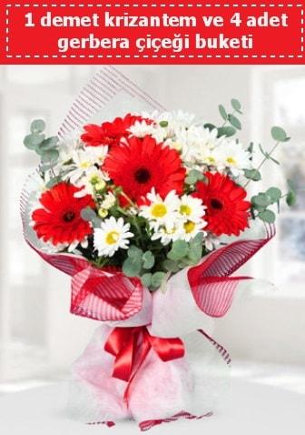 Krizantem ve Gerbera Buketi  Şırnak internetten çiçek siparişi