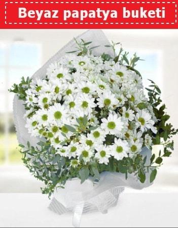 Beyaz Papatya Buketi  Şırnak çiçek online çiçek siparişi