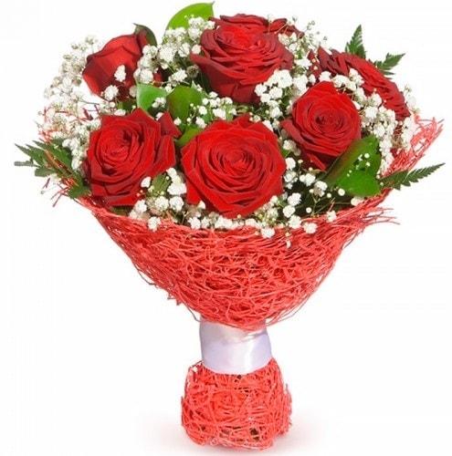 7 adet kırmızı gül buketi  Şırnak online çiçek gönderme sipariş