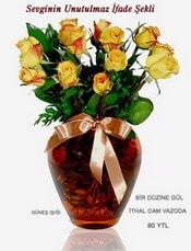 Şırnak çiçek siparişi vermek  mika yada Cam vazoda 12 adet sari gül
